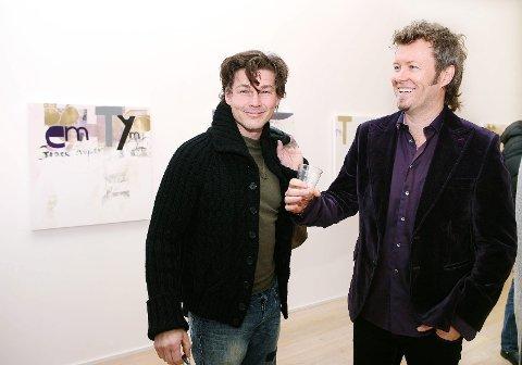Morten Harket var tilstede på åpningen av Magne Furuholmens utstilling på Trafo i Asker for noen år tilbake.