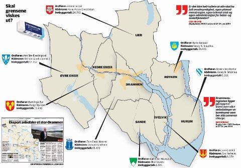 Sammenslåing og grensejusteringer av kommunegrensene vil stå på den politiske agendaen de neste to-tre årene. Hvem som vil slå seg sammen med hvem er ennå i det blå. Det eneste som er sikkert er at kommunekartet ikke vil se ut som på bildet her når alt er ferdig.