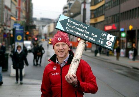 NY TURSJEF: Henning Wikborg fra Tanum har nettopp har fått jobben som daglig leder i DNT Oslo og Omegn. Det betyr at han skal han vise vei for 77.000 turglade medlemmer.