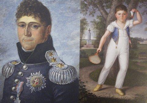 Konge og arveprins: Christian Frederik ble valgt til konge 17. mai. Arveprinsen Fritz til høyre. Alle illustrasjoner: Lene Ask