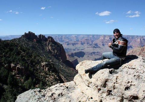 <B>Imponerende.</B> Møtet med Grand Canyon var mektig for de tre eikværingene.