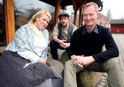 Erfaren trio. Monica Hjelle (fra venstre), Hans Marius Hoff Mittet og Johan Osuldsen tar sommeren i Brottet på Hvaler. FOTO: ARE BYE