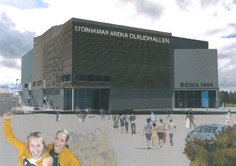 Olrudgruppen vil bygge ny hall ved ishallene på Hamar vest.