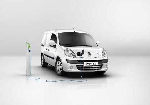 Renault Kangoo ZE med strøm slipper ut kun 12 gram CO2 pr. kilometer, og er en miljøvennlig bil å frakte varer med.