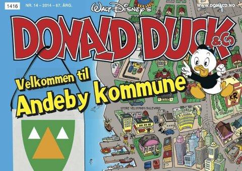 kart over andeby Tønsbergs Blad   Kvakk! Det er utsolgt for Donald i Andebu kart over andeby