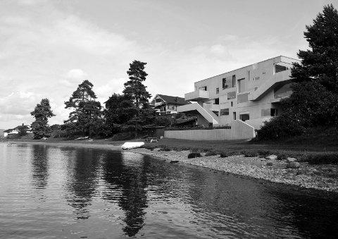Betongtavlen 2014: Villa Holtet/Larsen har fått pris for sin utforming i betong. Foto: Carl-Viggo Hølmebakk