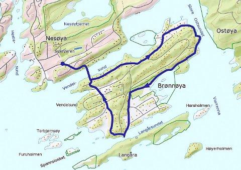 brønnøya kart Budstikka   Langs Brønnøyas stier brønnøya kart