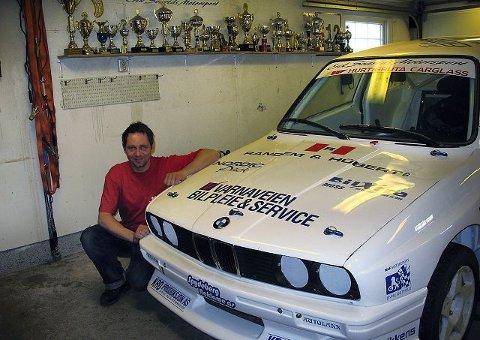Erik Svartås var godt fornøyd med bilen i debuten.