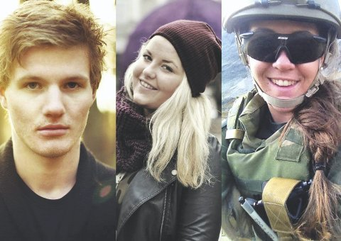 Valgte forskjellige veier: (F.v.) Thomas Schive (19), Tuva Linn Knardahl (17) og Johanne Jordahl (20) har alle tatt forskjellige valg for fremtiden.  FOTO: PRIVAT
