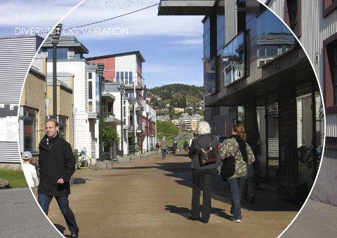 Forvandling:  Området skriker på fornyelse, og slik ser arkitekten for seg Gulskogen Nord.ILL.: GEHL Architects