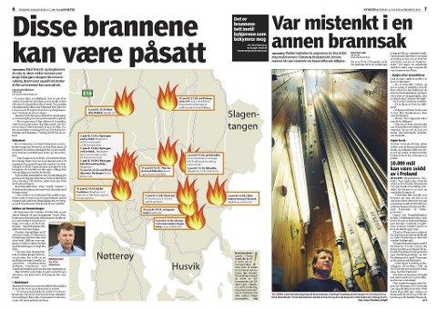 TØRKE: Under en tørkeperiode på forsommeren 2008 var det flere branner.Tønsbergs Blad 12. juni 2008