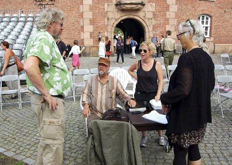 Kreativt møte: Dirigent Terje Boye Hansen (f.v.), regissør Stein Winge, inspisient Mari Ramberg og operasjef Anne Felberg.