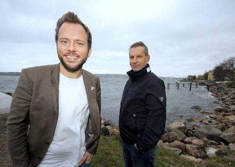 I vinden: – Vi satser på nullutslippsferjer og ikke bru, tunnel eller begge deler over Oslofjorden, sier Audun Lysbakken og Leif Christensen i SV. foto: espen Vinje