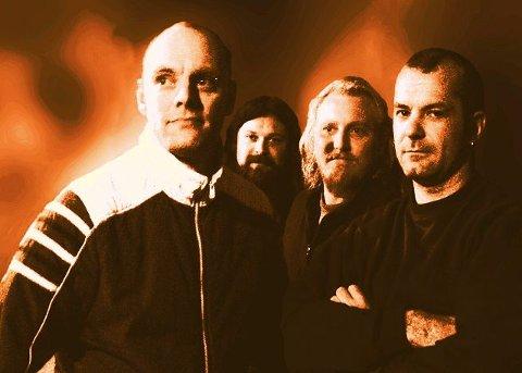 """MOYS:Rockebandet Moys gjør comeback på """"Lyden av Enebakk"""". Fra venstre: Robert Cohn (trommer), Henning Bergersen(vokal), Øyvind Henriksen (giar) og Jørn Gundersen (bass)."""