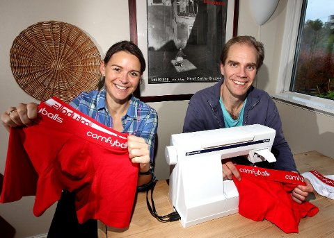 VÅGER SAMMEN: Anders (41) og Vibecke Selvig (30) lever på én kommunelønn mens han forsøker å gjøre butikk av underbukser.