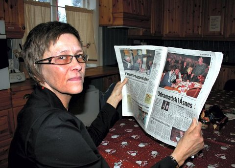 blir flere: Daglig leder ved Sparbyhuset dagsenter i Åsnes, Anita Wik, synes det er trist at Åsnes kommune reduserer åpningen fra fem til tre dager i uken, da antall brukere blir stadig flere.foto: jan Harald salberg