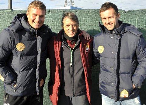 Jostein Flo, Roberto Mancini og Ronny Deila.