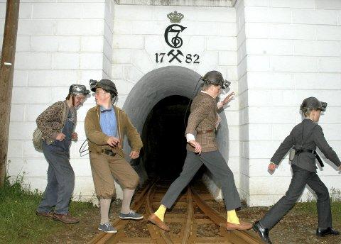 Olsenbanden jr: Ble spilt inn i gruvene i 2007. FOTO: ERLEND S. STENSTAD