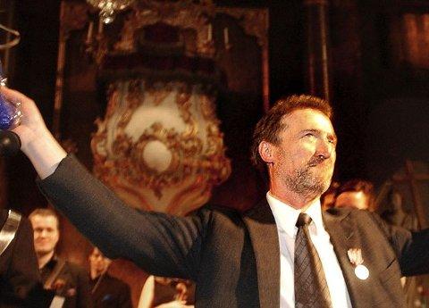 HEDER: Reidar Hauge etter at han fikk Kongsbergmedaljen. FOTO: JAN STORFOSSEN
