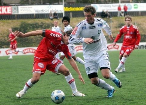 OPPRYKK: Daniel Moen Hansen (t.v.) i aksjon for Ullensaker/Kisa.Foto: Privat