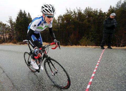14 år gamle Kristen Søndenå Karbøl syklet inn til ny personlig rekord med tiden 7.38. Det holdt til en sterk sjuendeplass for unggutten fra Sauda.