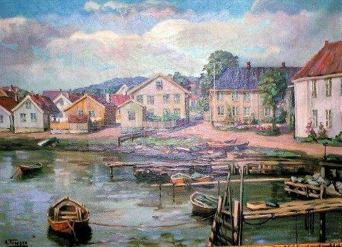 Finnegårdstranda malt av vår egen Anton Thoresen i 1923.
