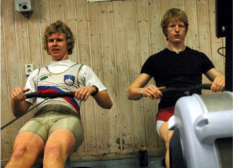 DOBBELTSEIER: Kjetil Borch(t.h.) vant juniorenes oppgjør foran klubbkameraten Bjørn Jostein Singstad. ARKIVFOTO