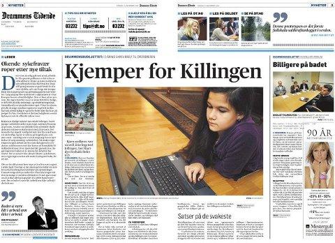 For nesten to år siden skrev Drammens Tidende om Sissi som engasjerte seg for å bevare Killingen. Drammens Tidende 24. november 2009