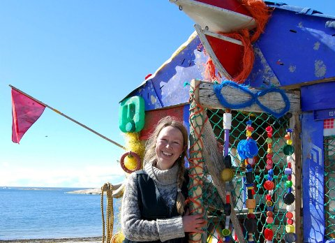 Miljøkunstner: Solveig Egeland er arkitekten bak hytta som skal døpes Havsul. Foto:  Privat