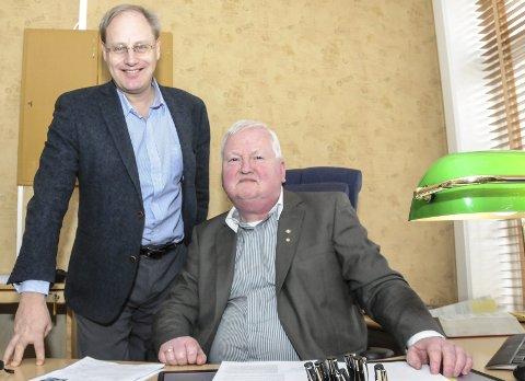 NYTT ADVOKATFIRMA: Lars Swanstrøm (til venstre) og Bjørn Vidar Bråthen har åpnet firmaet «Hjemmeadvokaten AS». Foto: Per Eckholdt