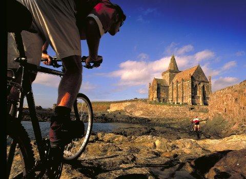 England kan by på flotte opplevelser fra sykkelsetet. Bildet er fra St. Monance i Fife.