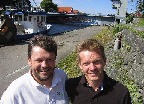 Ordfører Tage Pettersen og Sindre Westerlund Mork (V) vil begge ha ny gjestehavn ved Alpha brygga og flere båtturister til Moss. De vil ha havnestyret skal prioritere denne saken.