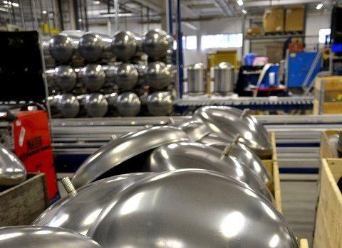 Stål: Høiax bruker mye rustfritt stål i løpet av et år.