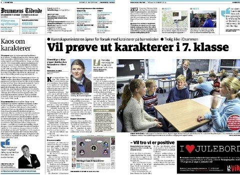 Drammens Tidende 29. oktober 2013