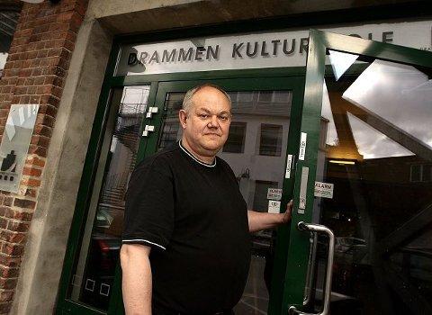 Magne Fremo, rektor ved Drammen Kulturskole, opplever stadig lengre ventelister. Nå håper han på bedre plass på Union etter hvert. FOTO: NILS J MAUDAL