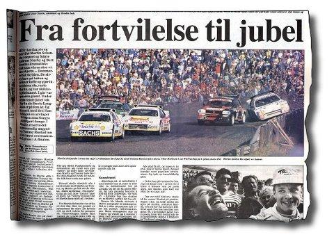 lykkes. 9. september 1991. Martin Schanche revansjerer seg på Lyngåsbanen og vinner overlegent.