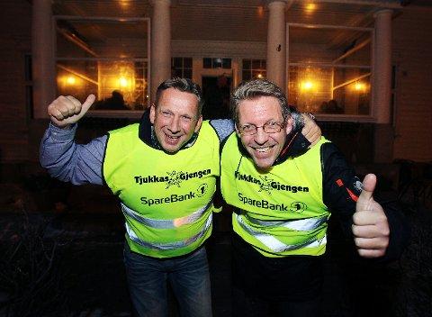 Tjukkasgjengen, her ved initiativtaker Jan Ellefsen (til venstre) og Dag Morten Skartlien, er blant de nominerte til Østfoldprisen 2012. Vinneren kåres 22. november.