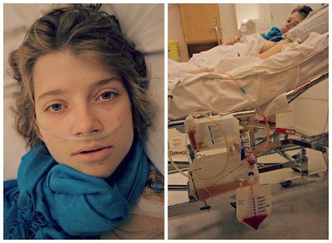 SYK: Amanda våknet til en mage som hadde vokst i løpet av natten. Det viste seg at hun hadde kreft i bukhinnen. FOTO: PRIVAT