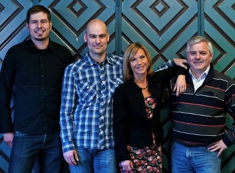SAMARBEID: AnJazz og Toneheim inngår samarbeid i forkant av 2011-festivalen. Fra venstre: Gøran Kristiansen, Jan Fredriksen, Anja Katrine Tomter og Halvard Opem.Foto: Jo E. Brenden