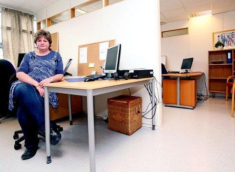 For åpen dør I dette kontoret skal to psykoterapeuter drive sin behandling. – Psykiske lidelser blir blottlagt for hele kontorlandskapet, sier Ina Svarstad, leder i Brukerrådet.