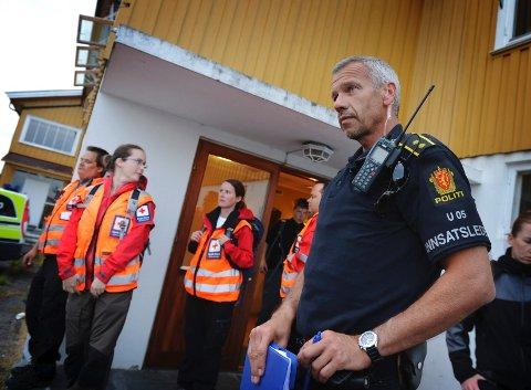 Innsatsleder Rune Andersen i Vestfold politidistrikt leder leteaksjonen.