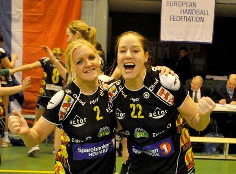 Kamilla Sundmoen og Betina Riegelhuth kan spille sammen i eliteserien for Storhamar også neste sesong.