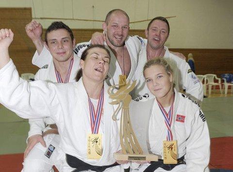 Fra venstre: Morten Andersen, Birgitte Ursin, Geir Aage Jacobsen, Rune Enget og Katrine Hofstad.