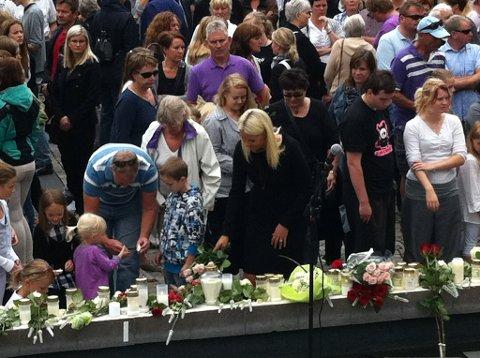 Minnemarkering i Hokksund.