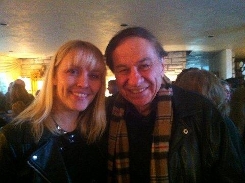 Christine Hals og Disneylegende Richard Sherman