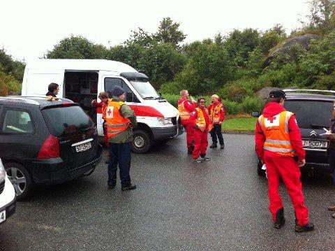 Flere frivillige organisasjoner detok i søket.