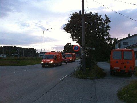 Her ankommer Fredsinnsatsgruppen til Sivilforsvaret fra Sandnes. De skal lete etter den savnede i natt.