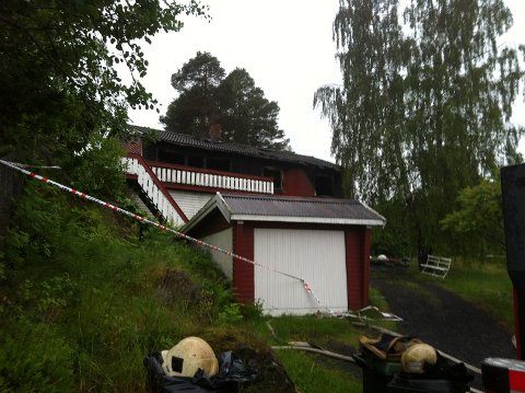 Etterpå: Slik så huset ut etter brannen.