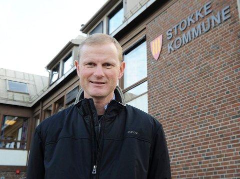 Erlend Larsen (H), ordfører i Stokke kommune.