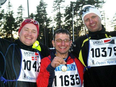 Bedir Yiyit gikk 90 kilometer på ski på 8 timer og 24 minutter. foto privat